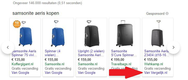 Google shopping aanpassingen
