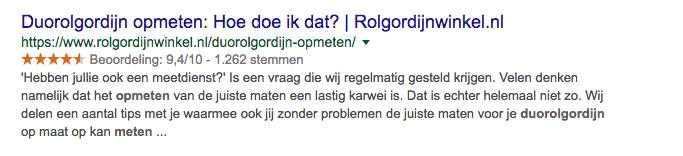 meta description Rolgordijnwinkel.nl